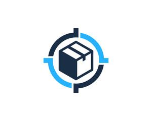 Box Target Icon Logo Design Element