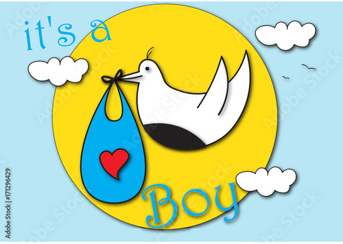 Baby Boy Birthday Greeting Card Stock Photo And Royalty Free Images