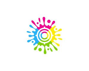 Paint Target Icon Logo Design Element