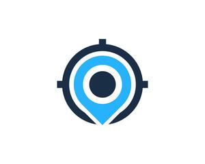 Target Location Icon Logo Design Element
