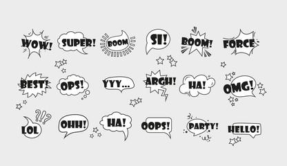 Fototapeta Comic speech bubbles set  vol.1 obraz