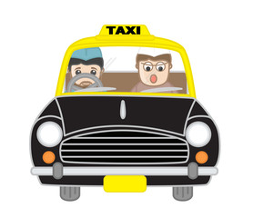 Funny Politician and Driver Character in Taxi