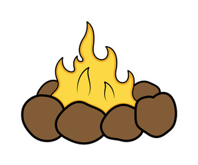 Campfire Cartoon Vector