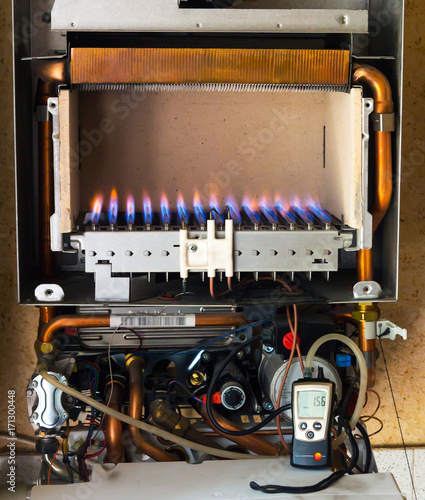 gas boiler from the inside, the device and the principle of ...