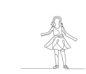 little girl sketch, outlines