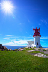 the Lindesnes lighthouse