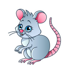 Cartoon mouse isolated vector illustration