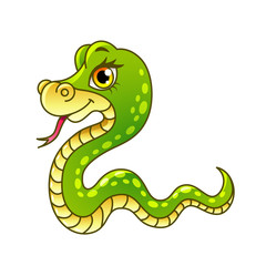 Cartoon snake isolated vector illustration