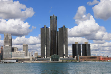 Detroit Skyline across the Detroit River