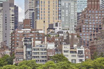 Varied architecture of Manhattan, New York City, USA.