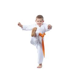 Little athlete beats kicking