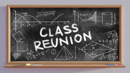 3D render of a blackboard  Class Reunion