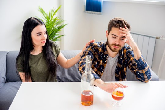 Wife with alcoholic husband