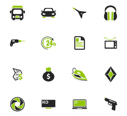 Pawnshop icons set