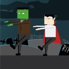 Frankenstein and Dracula Helloween