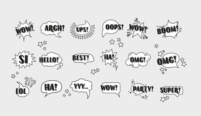 Fototapeta Comic speech bubbles set vol.3 obraz