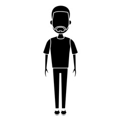 Young man cartoon icon vector illustration graphic design