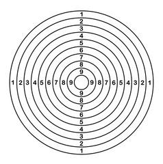 Target shoot outline. Vector illustration