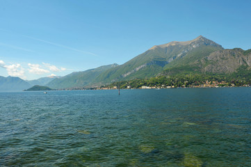 Panoramic view of Lake Como, Italy. Bellagio