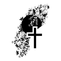 Funeral icon cross - faith and religion