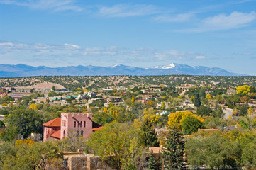 View over Santa Fe NM