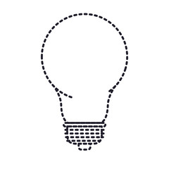 light bulb icon in monochrome silhouette dotted vector illustration
