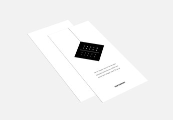 Tri-Fold Brochure Layout with Black Accents 1