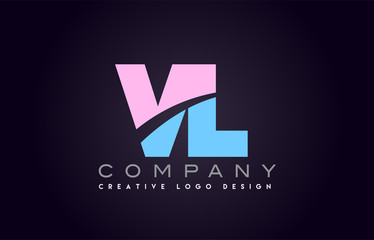 vl alphabet letter join joined letter logo design