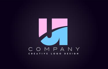 ui alphabet letter join joined letter logo design