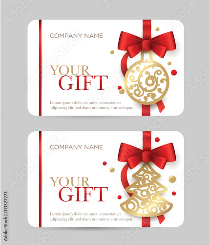 New Year Gift Card Christmas Coupon Gift Certificate With New