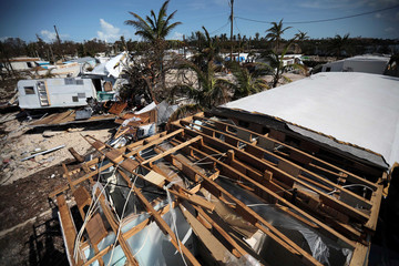 A destroyed trailer park is seen after Hurricane Irma strikes Florida, in Plantation Key in the Florida Keys
