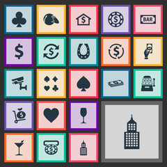 Vector Illustration Set Of Simple  Icons. Elements Money Flow, Peaks, Income And Other Synonyms Security, Shoe And Soul.