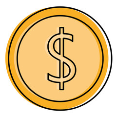 coin money isolated icon vector illustration design