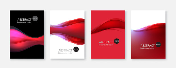 Abstract vector backgrounds set.