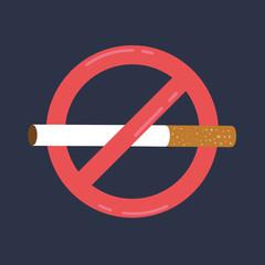Anti tobacco day. World no tobacco day May 31st. No smoking sign. Vector stock.