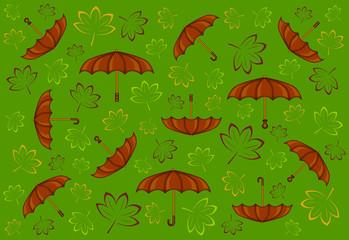 sfondo autunno ombrelli