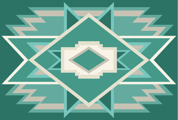Abstract Southwest Turquoise Native Background 1