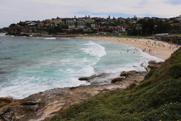 Holidays at Bronte Beach Sydney in summer, New South Wales Australia