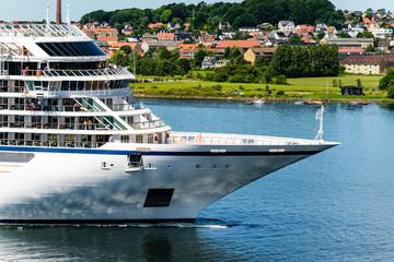 Cruise ship nose. Denmrk, Aalborg
