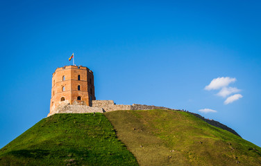 Gediminas Castle in Vilnius, Lithuania on a sunny summer day