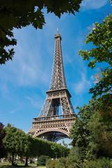 Eiffel Tower in summertime