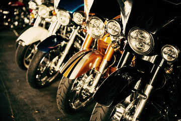 Photo Blinds Bicycle Motorcycles in a row
