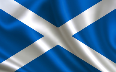 Scottish flag. Scotland flag. Flag of Scotland. Scotland flag illustration. Official colors and proportion correctly. Scottish background. Scottish banner. Symbol, icon.