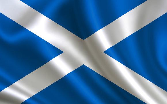 Scottish flag. Scotland flag. Flag of Scotland. Scotland flag illustration. Official colors and proportion correctly. Scottish background. Scottish banner. Symbol, icon.