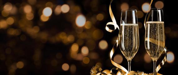 Prosit Neujahr - Silvester - Champagnerempfang Banner