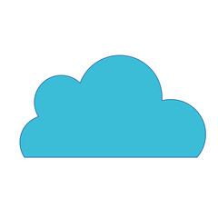 nice cloud natural weather design vector illustration