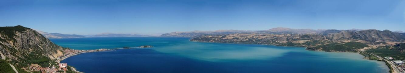 Egirdir Lake panaroma, Isparta, Turkey