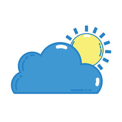 nice cloud with sun tropical weather vector illustration