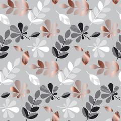 automne or abstrait laisse illustration vectorielle de modèle. modèle sans couture décoratif de style célébration élégante tendre. conception de fond