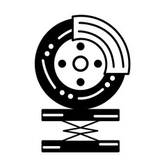 contour tire car service to mechanical repair vector illustration